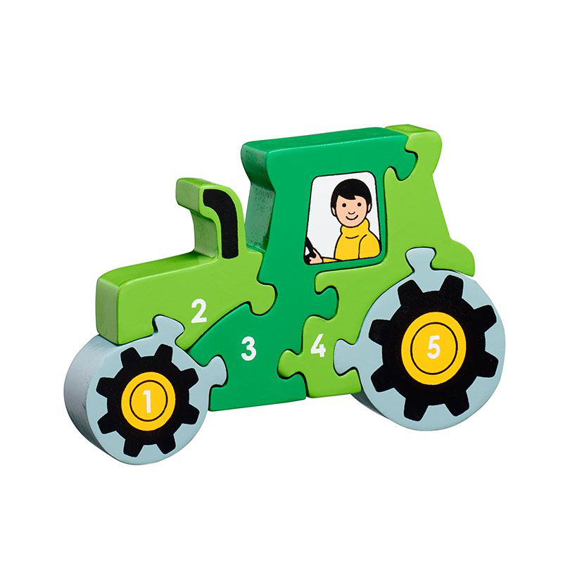 Green Tractor 1-5 Jigsaw