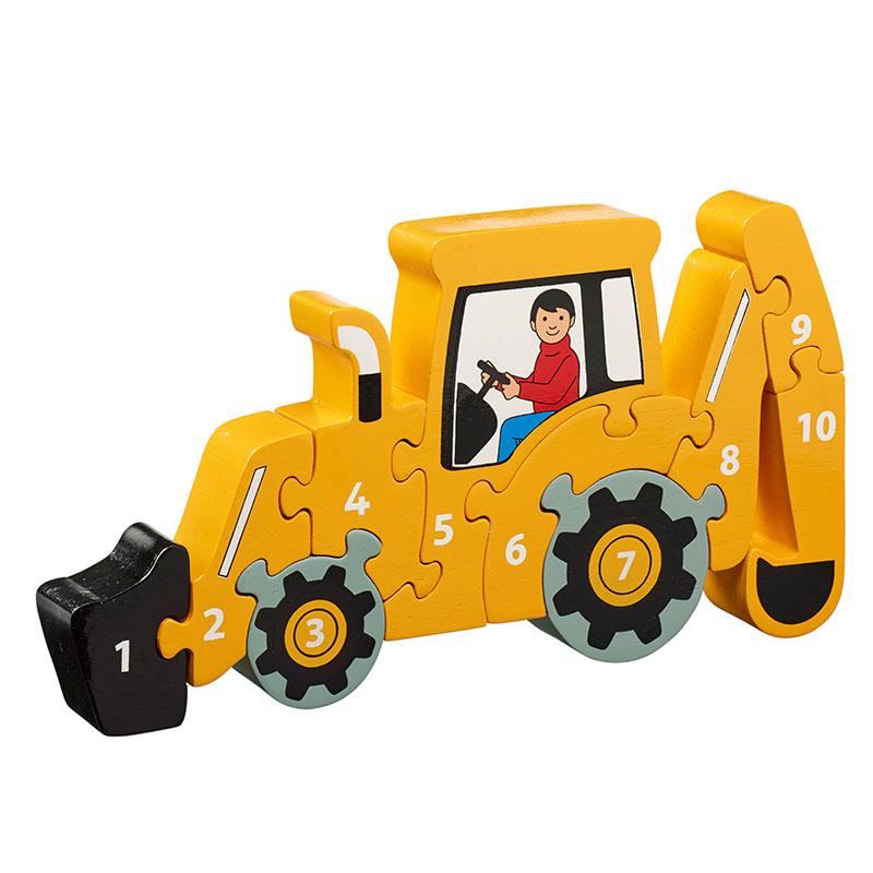 Yellow digger 1-10 jigsaw